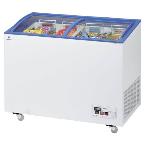 Arcaboa ACL320 Sliding Curved Glass Lid Chest Freezer